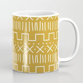 Mustard Mud Cloth Coffee Mug
