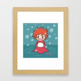 Kokeshi Ponyo Framed Art Print
