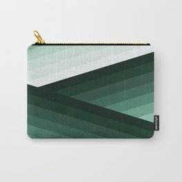 Serene Contemporary Green Ombre Design Carry-All Pouch