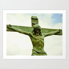 Jesus and my cross. Art Print