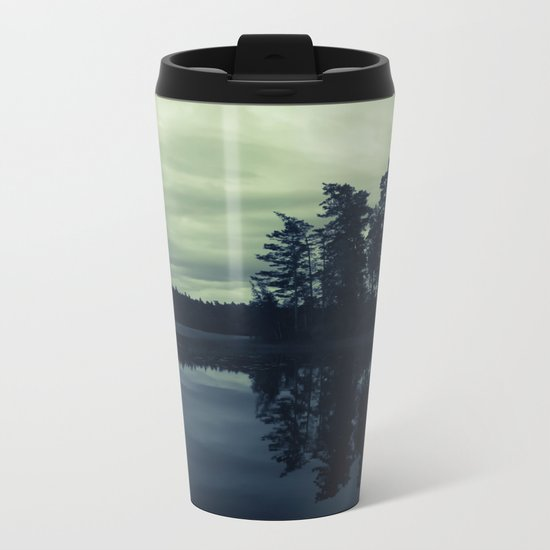 Lake by Night Metal Travel Mug