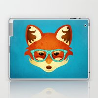 Hipster Fox: Azure Laptop & iPad Skin