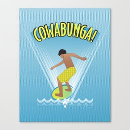 Cowabunga Flow-boarding Pop Art Canvas Print