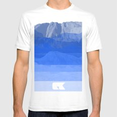 DK White Mens Fitted Tee MEDIUM