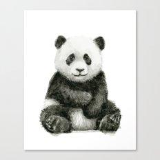 Panda Baby Watercolor Animal Art Canvas Print