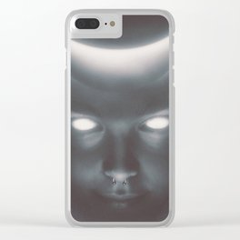 Moon Keeper Clear iPhone Case
