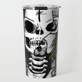 Skull Cobain by zombieCraig Travel Mug