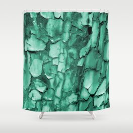 Flakey - Teal Shower Curtain