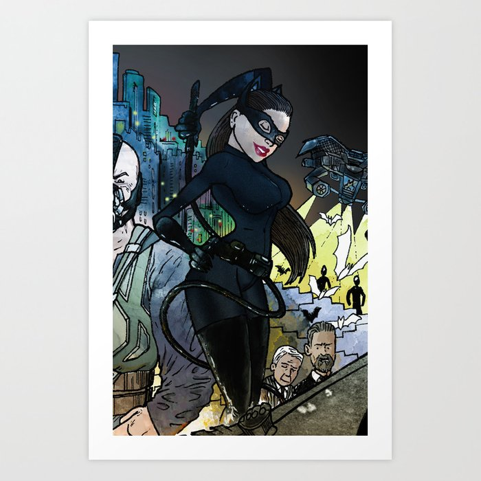 "Catwoman Rises - a ""you're COLOR"" promo! Art Print"