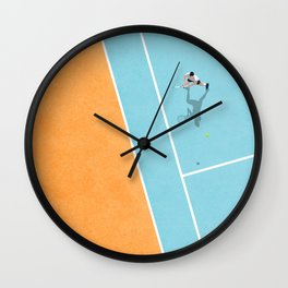 Tennis Court Colors  Wall Clock