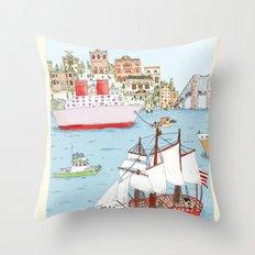 The Harbor Throw Pillow