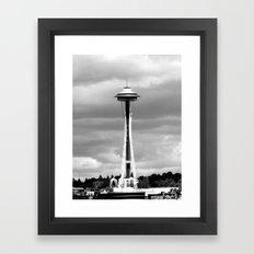 Seattle in Black and White Framed Art Print