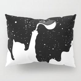Space Paint Milky Way Cat Pillow Sham