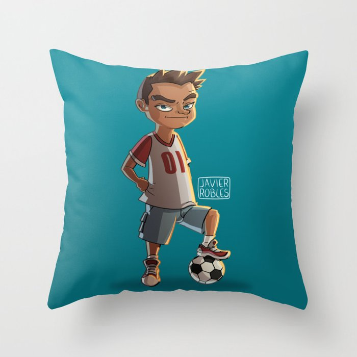 Soccer Kid Throw Pillow