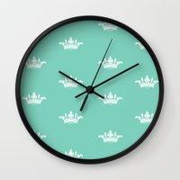 princess Wall Clocks featuring Princess by Louise Machado