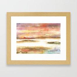 Abstract Landscape Watercolor Art Framed Art Print