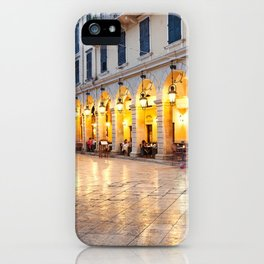 Liston square in the town of Corfu, Greece iPhone Case