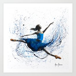 Blue Season Ballerina Art Print