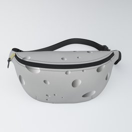 Convex drops and petals on a gray background in nacre. Fanny Pack