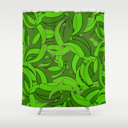 Abstract Emerald Green Forest Shower Curtain
