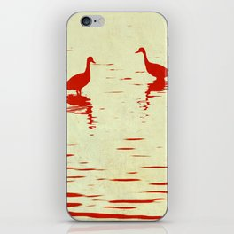 Whistling Duck Stencil iPhone Skin