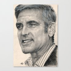 George Clooney Traditional Portrait Print Canvas Print