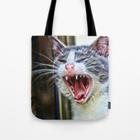 dentist Tote Bags featuring While at the Dentist by Music of the Heart