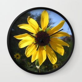 sunflower. Wall Clock