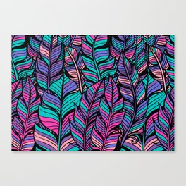 Colorful Feathers Canvas Print
