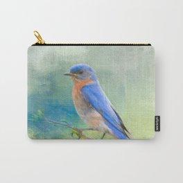 Bluebird In The Garden Carry-All Pouch