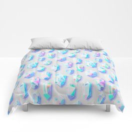 Iridescent Rainbow Crystals Comforters