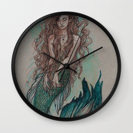 Mermaid Sea Enchanter Wall Clock