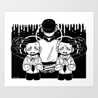 say your prayers  Art Print