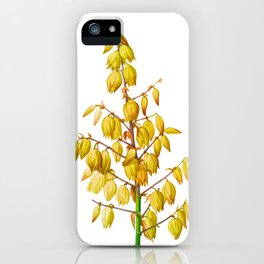Yucca gloriosa Flower Detail, Yucca a feuilles entieres, Palm Lily or Spanish Dagger, Plate 327, Sharp PNG iPhone Case