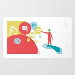 User Experience Art Print
