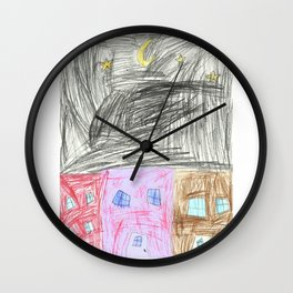 The Stars Up Above Wall Clock
