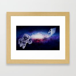 Space Has No Limits Framed Art Print
