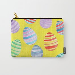 Easter Egg Watercolor Pattern -  Yellow Carry-All Pouch