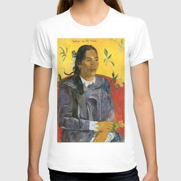 Tahitian Woman with a Flower by Paul Gauguin T-shirt