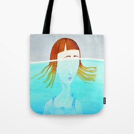 I do my crying underwater Tote Bag
