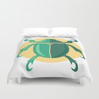 beetle Duvet Covers featuring beetle by Cardinal Design