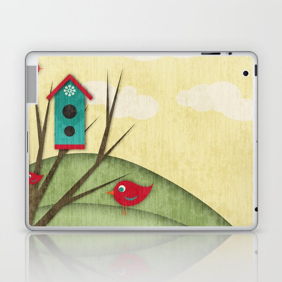 Shabby Sweet Tweet On The Hillside Laptop & iPad Skin