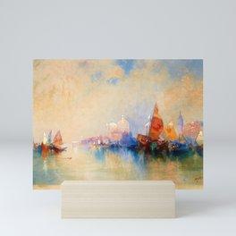 12,000pixel-500dpi - Thomas Moran - Venice, The Lagoon Looking Toward Santa Maria Della Salute Mini Art Print