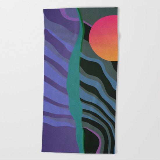 Crepuscular Streams Beach Towel