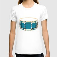 drum T-shirts featuring Drum - Red by Ornaart