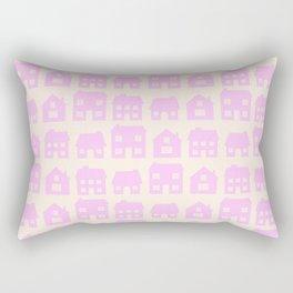 Little Scandi Houses in Pink Rectangular Pillow