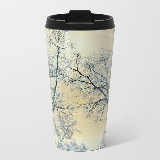 Trees nature infrared landscape Metal Travel Mug