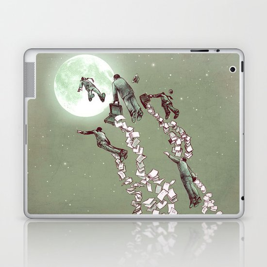 Flight of the Salary Men Laptop & iPad Skin