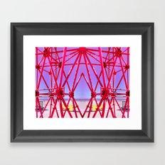 Red Iron Framed Art Print