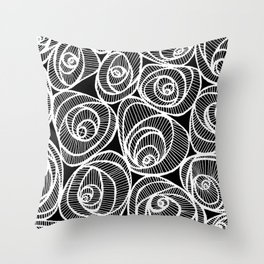 Midnight Roses Throw Pillow